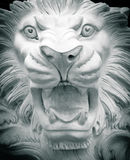 Sculpture of a lion. Sculpture of an angry lion Royalty Free Stock Photos