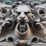 Sculpture of a lion as a symbol of strength Stock Photography