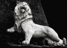 Sculpture of a lion as a symbol of strength and greatness Royalty Free Stock Images