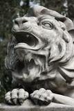 Sculpture of a lion as a symbol of strength and greatness Stock Images