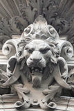 Sculpture of a lion as a symbol of strength Stock Images