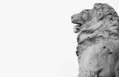Sculpture of a lion as a symbol of strength Royalty Free Stock Photos