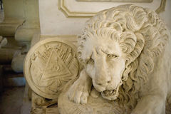 Sculpture of lion in cathedral Royalty Free Stock Image