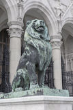 Sculpture of a lion before course in parlament Royalty Free Stock Images