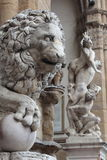Sculpture of a lion Florence Royalty Free Stock Image