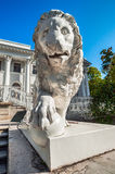 Sculpture of lion in front of Yelagin Palace, St Petersburg, Russia Stock Photos
