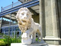 Sculpture of a lion Royalty Free Stock Photo