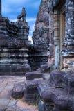Sculpture of lion an an old door at Pre Rup around Angkor   Wat Stock Photos