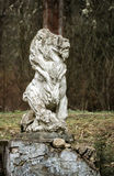 Sculpture of a lion in an old noble manor. Selo Ivanovskoye, Russia Royalty Free Stock Photography