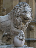 Sculpture of lion. Sculptures in the center of Florence, Italy Royalty Free Stock Photos