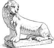 Sculpture of a lion Stock Image