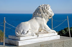 Sculpture of a lion in the Vorontsov Palace Stock Photo