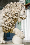 Sculpture of a lion in the Vorontsov Palace Stock Photos