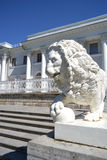 Sculpture of the lion at the Yelagin palace Stock Image