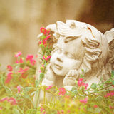 Sculpture of little angel Royalty Free Stock Photos