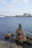 The sculpture of the little Mermaid - the symbol of Copenhagen. Denmark Stock Image