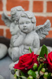 Sculpture. A lovely sclupture of cupid Stock Photos