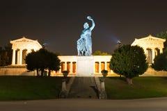 Sculpture lumineuse de la Bavière à Munich Image stock