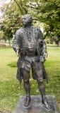 Sculpture  M.Lomonosov in Muzeon park, bronze. Sculptor L. Baranov Stock Photo