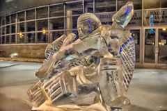 Sculpture made of ice hockey Royalty Free Stock Images