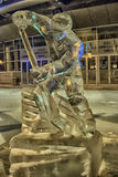 Sculpture made of ice hockey Royalty Free Stock Photography