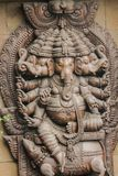 Sculpture made of wood. Sculpture of Ganesha made of wood Stock Images