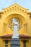 The sculpture of the Madonna and Child at the Catholic Church Cua Bac Catholic Church. Hanoi Royalty Free Stock Photography