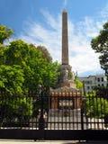 Sculpture Madrid Espagne l'Europe en DOS Mayo de héros d'obélisque Photo stock