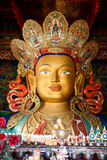 Sculpture of Maitreya buddha at Thiksey Monastery Royalty Free Stock Photo