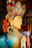 Sculpture of Maitreya buddha at Thiksey Monastery Royalty Free Stock Photos