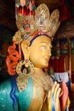 Sculpture of Maitreya buddha at Thiksey Monastery Royalty Free Stock Photos