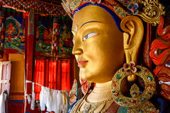 Sculpture of Maitreya buddha at Thiksey Monastery Stock Images