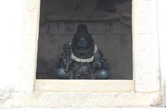 Sculpture of a male deity at Gommateshwara Temple, Shravanabelagola. Shravanabelagola is one of the most important pilgrimage destinations of Jainism which Royalty Free Stock Photography