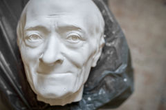 Sculpture of the male face of the elderly. Horizontal frame. Sculpture of the male face of the elderly Stock Image