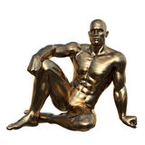 Sculpture of the man Royalty Free Stock Photos
