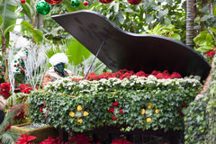 Sculpture of man playing a piano alone in Allan Royalty Free Stock Photos