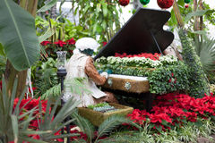 Sculpture of man playing a piano alone in Allan Royalty Free Stock Images