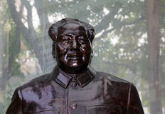 Sculpture Mao Zedong, also transliterated as Mao Tse-tung Royalty Free Stock Photos