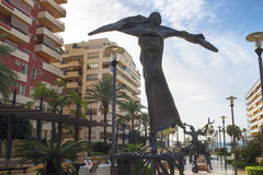 Sculpture in Marbella on the Costa del Sol Spain Royalty Free Stock Image