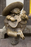 Sculpture of a mariachi. At Tlaquepaque, a town in the state of Jalisco.                                                    Art work by the renowned sculptor Stock Photography