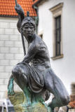 Sculpture of Mars on the Old Market Square in Poznan Stock Photo