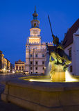 Sculpture of Mars on the Old Market Square in Poznan Stock Images