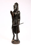 Sculpture of Masai Warrior Royalty Free Stock Photos