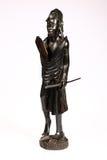 Sculpture of Masai Warrior. Hand-made ebony sculpture of Masai Warrior from Kenya isolated on white Royalty Free Stock Photos