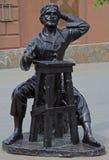 Sculpture of master 'Left-hander' at work in Chelyabinsk, Russia Stock Image
