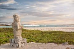 Sculpture maya au Mexique image libre de droits