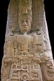 Sculpture of a Mayan king Stock Image
