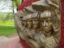 Sculpture at the memorial tankers Stock Photography