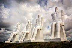 The sculpture `Men at sea` Stock Image