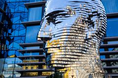 Sculpture `Metalmorphosis` by the Czech artist David Cerny Royalty Free Stock Image